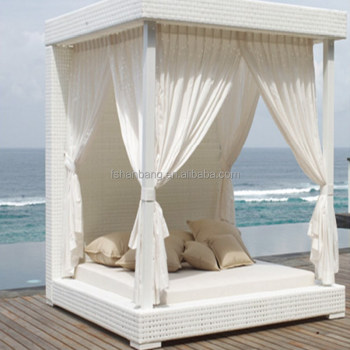 White Outdoor Patio Furniture.Luxury White Wicker Gazebo Canopy Outdoor Patio Furniture Bed Set View Outdoor Daybed Love Rattan Product Details From Foshan Hanbang Furniture