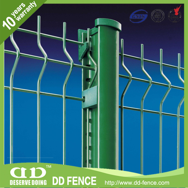 CE certifiedwelded mesh industrial fence with post / welded mesh fencing with folds from China (factory)/DD-FENCE for sale
