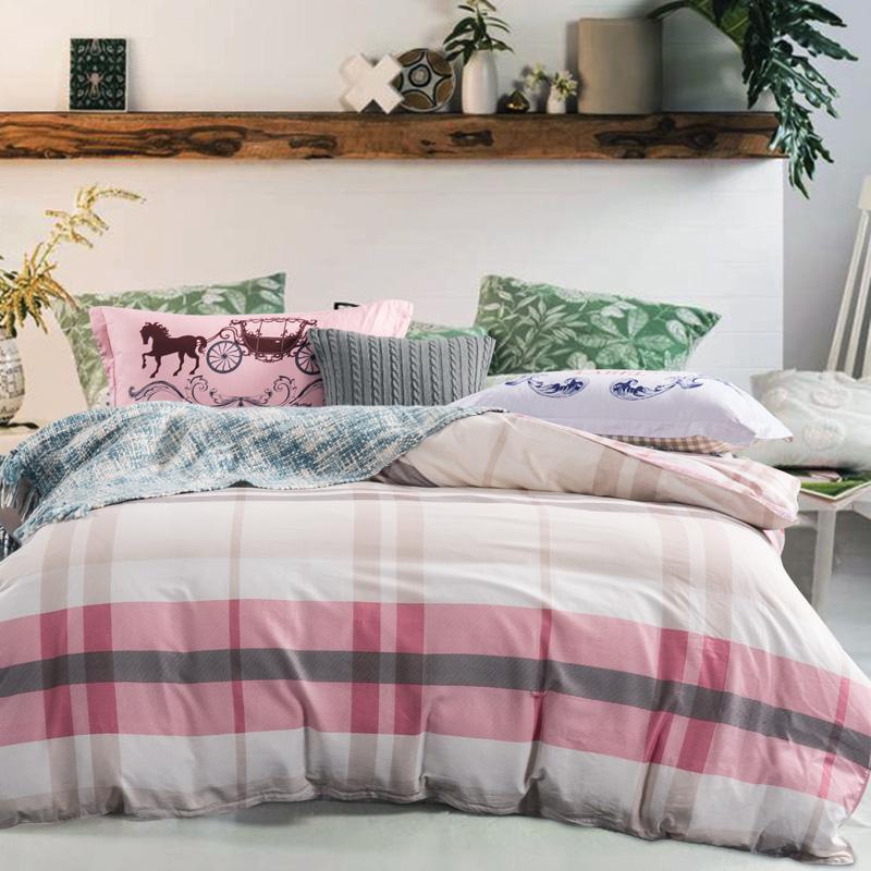 Popular Pink Plaid Comforter Buy Cheap Pink Plaid