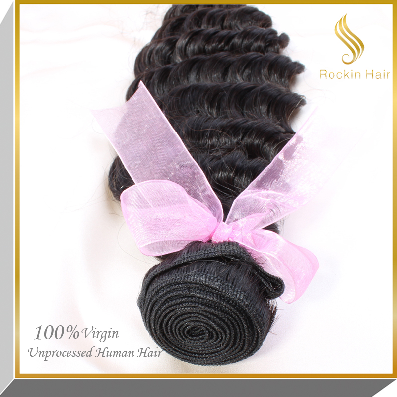 Hair Factory ,double drawn remy hair wholesale price virgin deep wave deep curl remy human hair extension