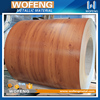 Metal building materials wooden grain prepainted galvanized steel sheet