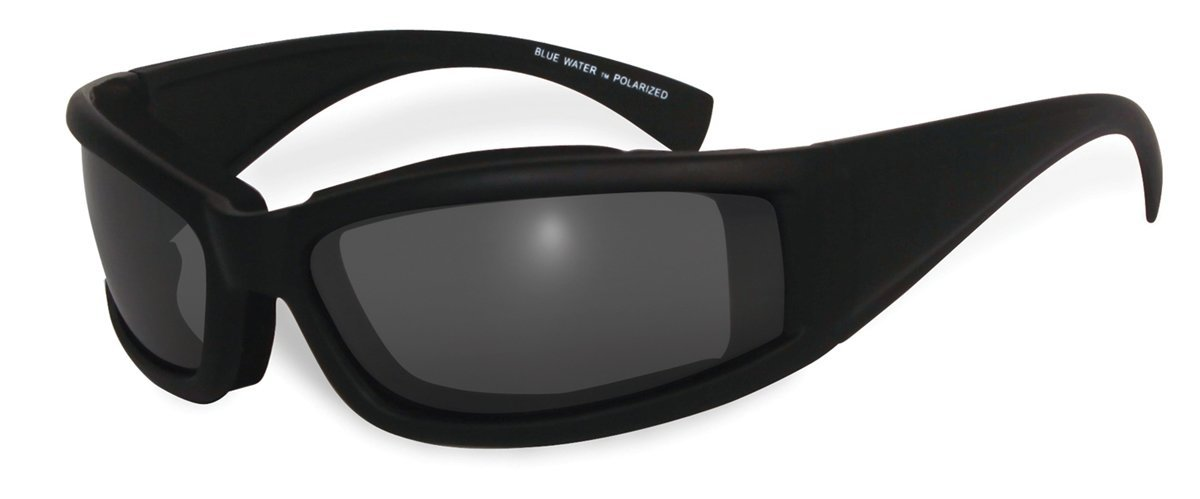 BluWater Floating 5 Polarized Sunglasses with Neoprene Foam, Smoke Lens, Matte Black Frame