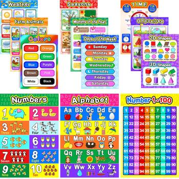 Children educational poster printing service learning gaming wall charts