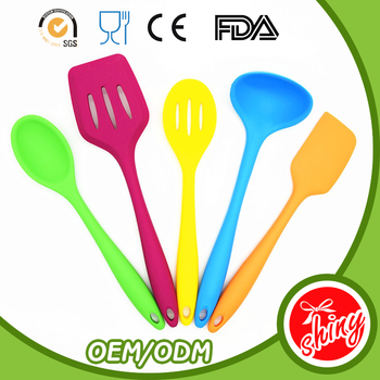 New Design Silicone Kitchen Set Cooking Tongs Coloured Utensils