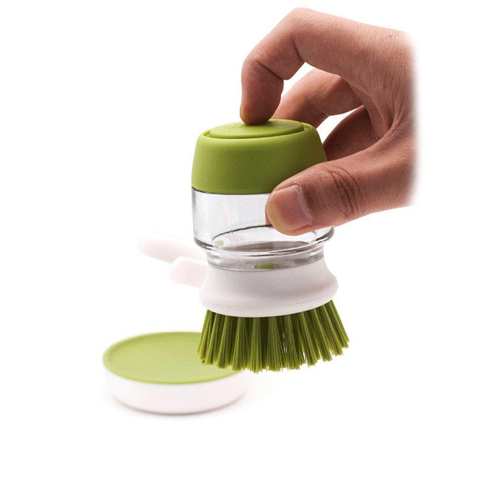 Tailoog Good Grips Soap Dispensing Palm Brush