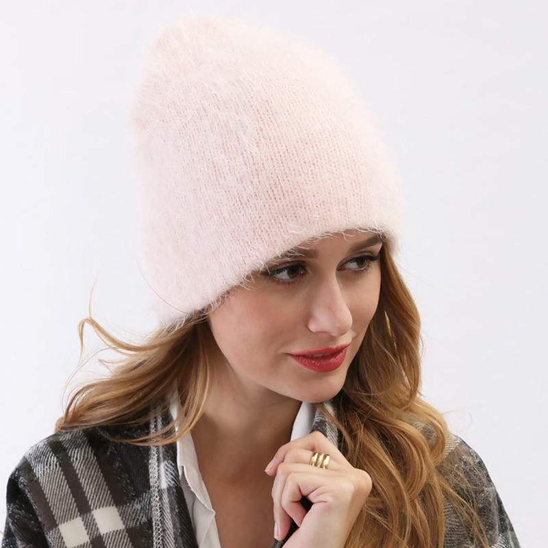 2015 New Fashion Soft Wool Skullies Beanies Women Pink Headgear Gorros Fall Winter Touca Feminina