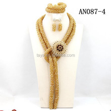 costume jewelry set african gold woven jewelry set