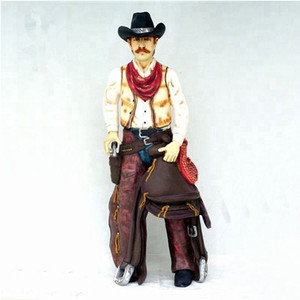 Customized home style life size resin cowboy statue