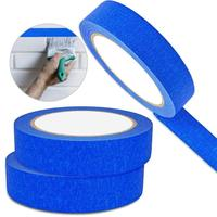 "Single side colorful painters blue tape 1"" crepe paper green heat resistant masking tape"
