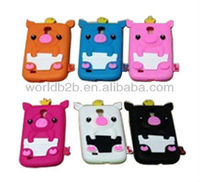 Cute 3D Pig Silicone Soft Back Case Cover For Samsung Galaxy S4 Mini i9190