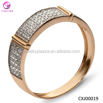 Newest Design Funny Silver Engagement Rings Gold Plated Couple
