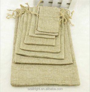 Small Burlap Natural Linen Jute Sack Jewelry Gift Pouch Drawstring Bags