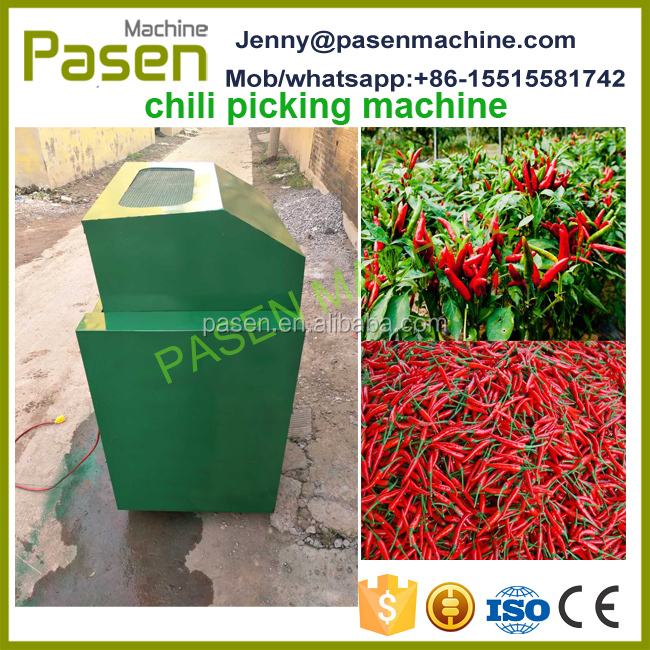 High efficient harvester machine for chilli / red chilli harvest machine / farm use chilli picker