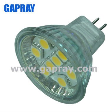 Glass waterproof mr11 led spots with glass cover