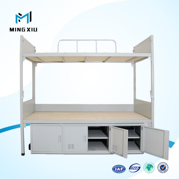 mingxiu muebles de oficina barato litera de metal en forma de llitera para adultos