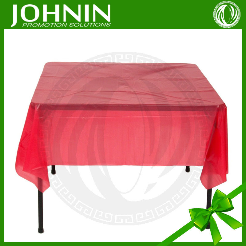 300D polyester/coton/satin material cheapest hot sale customized printed plastic table cloth