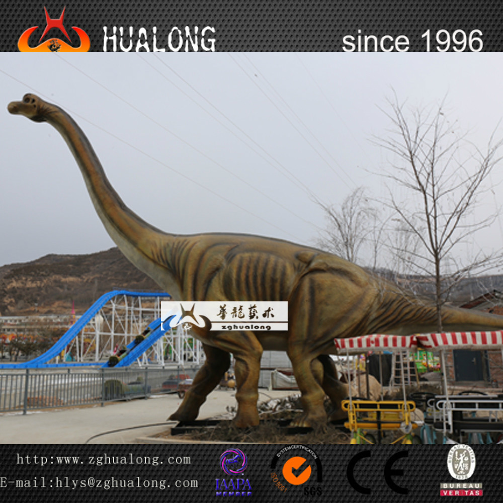 Outdoor Life-Size Fiberglass Cartoon Dinosaur and Dinosaur Life Size Dinosaur Statues