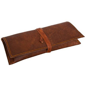 Real leather handmade pen case holder