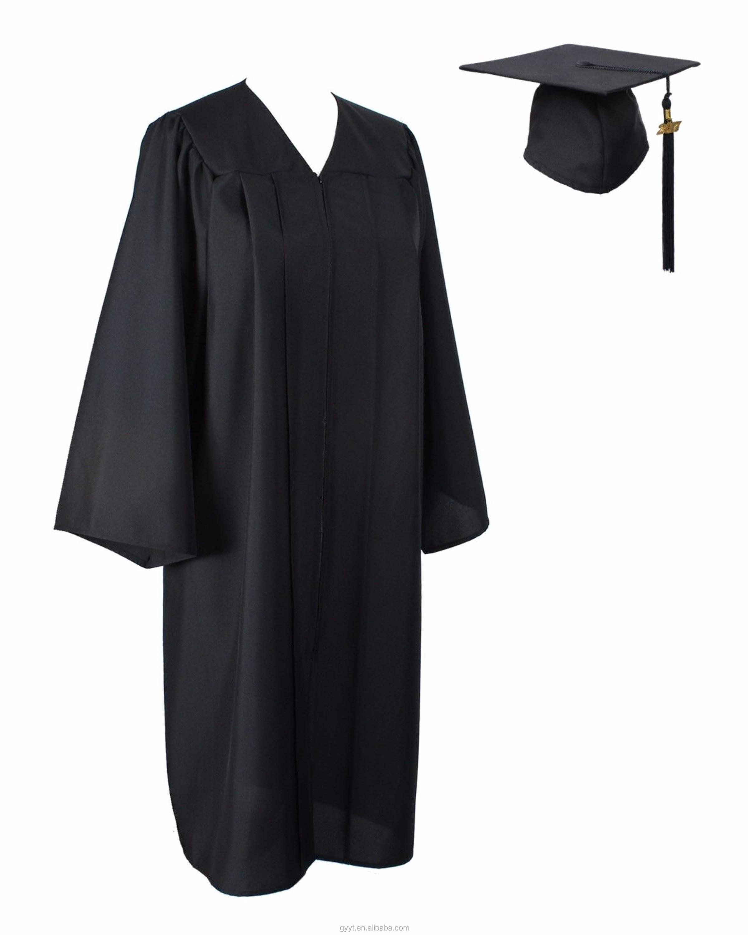Black Graduation Cap And Gown With 2018 Year Charm Bachelor - Buy ...