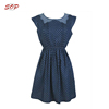Casual Lace Collar Chambray Dress for Lady