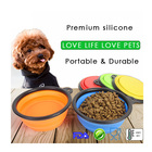 Travel water food silicone pet feeding bowl