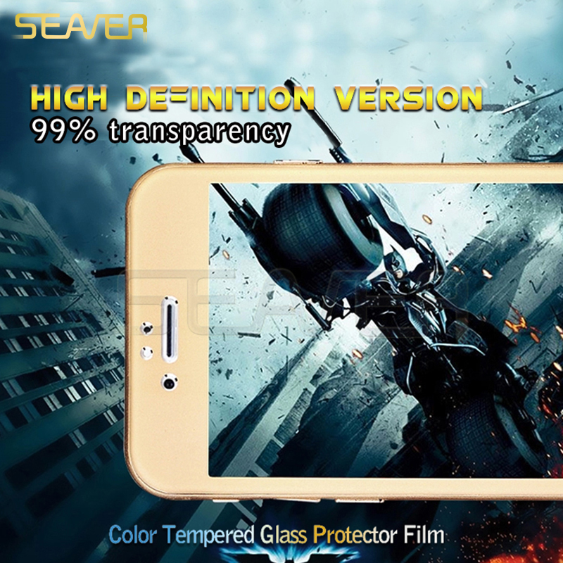 Hot Sale Color Frame Anti Blue Light 2.5d Hd Clear Full Cover Tempered Glass Screen Protector For Iphone6/6 Plus