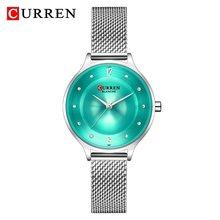 Часы CURREN женские, кварцевые, аналоговые, из нержавеющей стали(Китай)