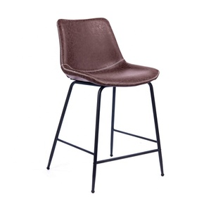 GUYOU GY-9020 vintage western PU leather restaurant high stool bar chair dining chair