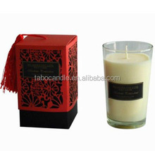 home decor scented soy wax glass candles