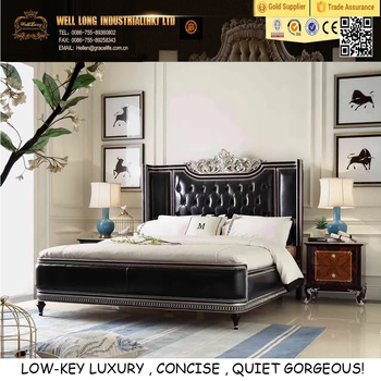 Low Key Luxury Black Leather Bed Cool Bedroom Furniture