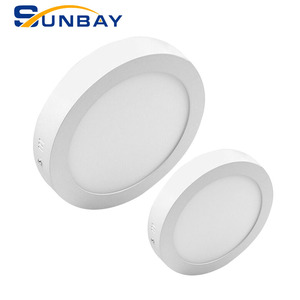 Sunbay IP44 Surface Mounted square round led ceiling light 6w 9w 12w 15w 18w 24w