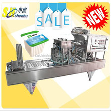 Hot Sale Shanghai Automatic Soymilk Cup Filling and Sealing Machine For Roll Film Sealing