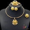 Antique plated gold jewelry set bridal jewelry set wedding style jewelry sets