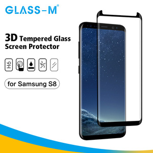 3D Full Cover Tempered Glass Cell Phone Screen Guard for Samsung Galaxy S8