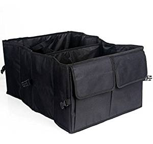 Wellco Car Trunk Organizer for Cars Trucks SUVs 22''x10''x15.7''Black,Car Folding Waterproof Storage bag,Oxford travel Kitchen Bag,For All cars, vans,SUVs, trucks, trailers and RVs.