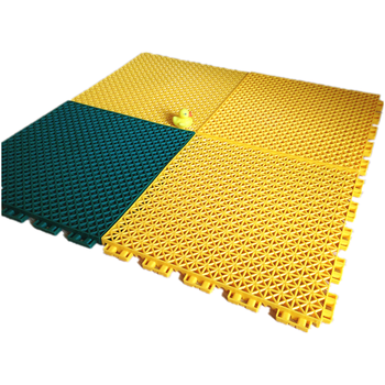 PP interlock 12.7mm flooring for volleyball court backyard floor covering