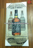 WK-61 Modern Art Canvas Wine Bottle Oil Paintings Cheap Prices