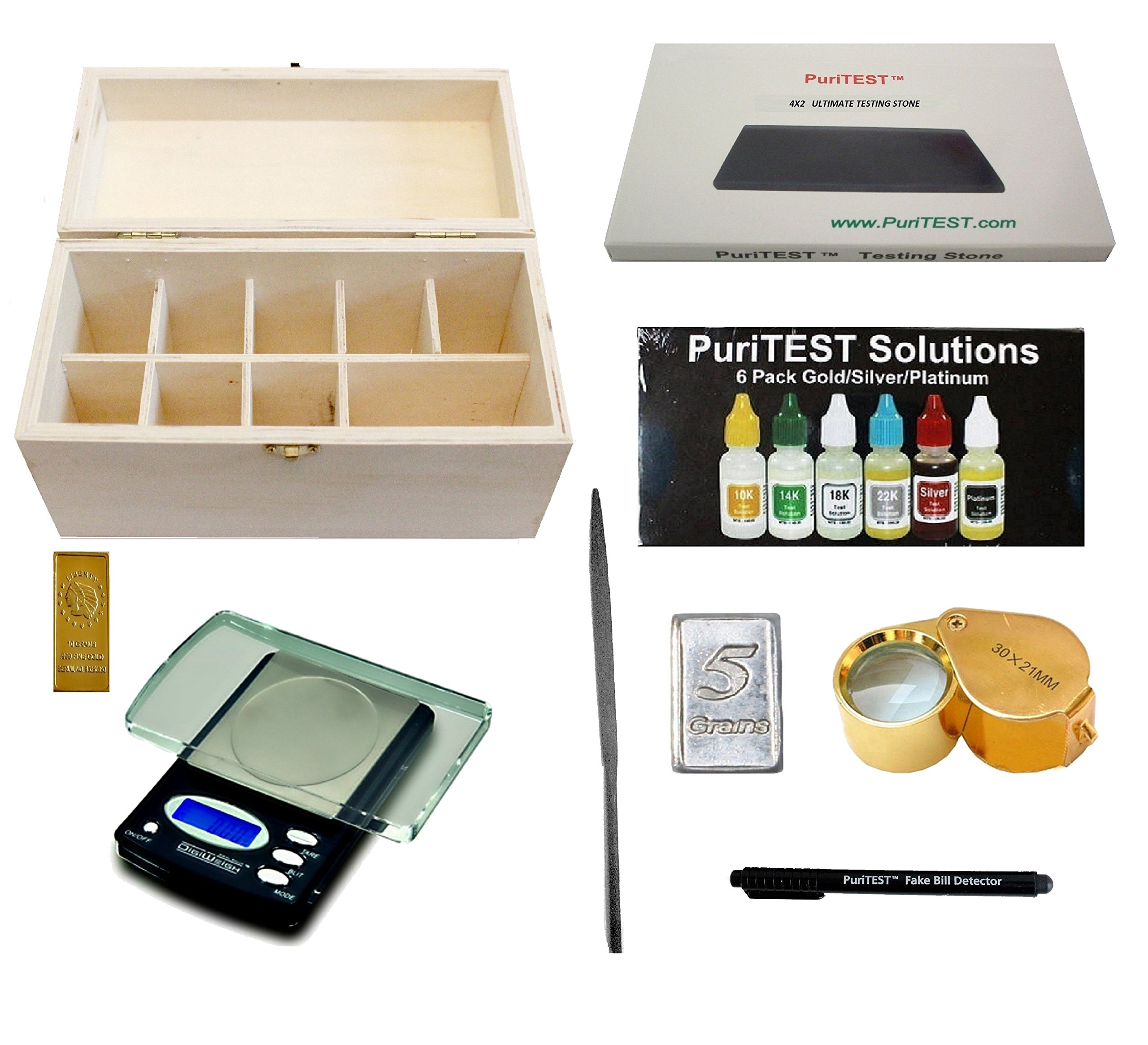 10k 14k 18k Gold Silver 999 Acid Test Kit 24 Tool Jewel Silver Platinum Stones G Coins & Paper Money Other Jewelry Tools