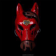 PM-861 Wholesale new red face 3d animal horse head mask for Halloween party