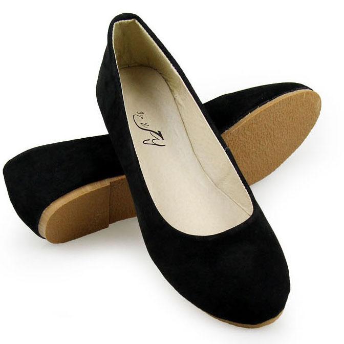 d1cc9f03a06b4 Get Quotations · Fashion Plain Round Toe Slip-on Women Ballet Flats  Comfortable Women Genuine Leather Flat Shoes