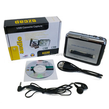 1PCS/LOT Portable USB Cassette Player Capture Cassette Recorder Converter Tape-to-MP3 Auto Reverse-Stereo-Hi-Fi-Mega Bass