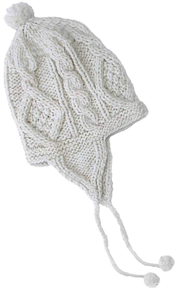 d619f55170d Get Quotations · Cable Knit Wool Hats with Earflaps