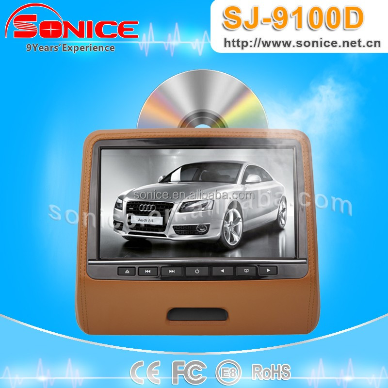 2015 hot buy Portable Headrest dvd car LCD monitor clip-on SJ-9100D