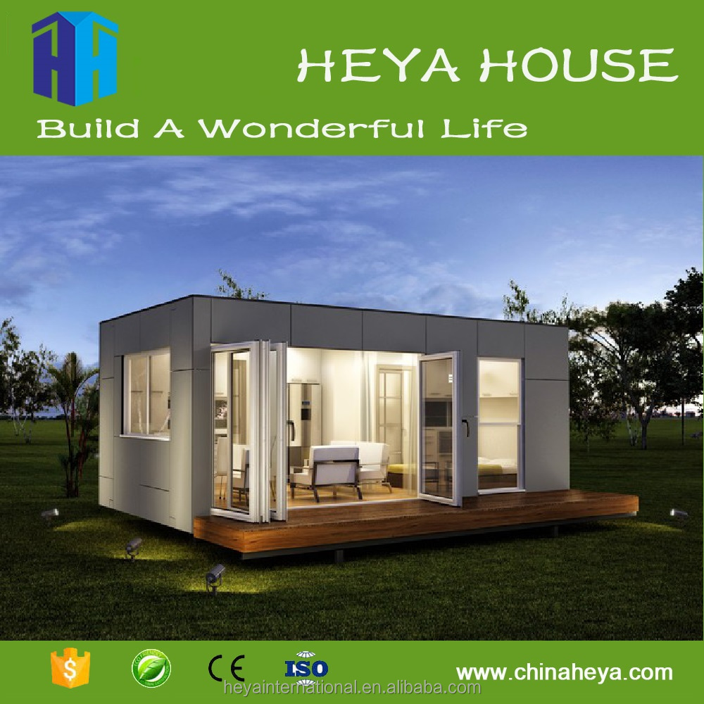 20ft Shipping Container Glass House Prefab Modern Export Tiny Home