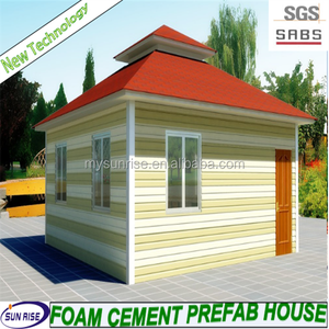 2016 SGS fast installation foam cement sandwich panel ready made house