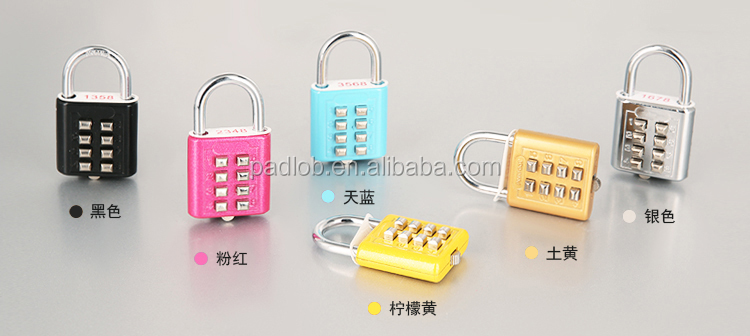Keypad Number GYM Sport Stationery Small Safety 10 Button Combination Padlock