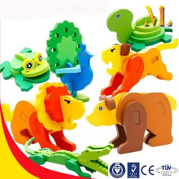 building blocks toys 3d animal educational toys parent child games