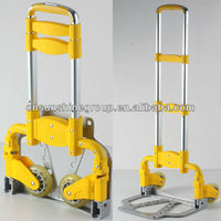 Aluminum folding luggage cart,iron foldable trolley