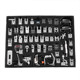 52PCS Multi Domestic Household Sewing Machine Presser Feet Set for Brother Singer, 52pcs Roller Presser Feet