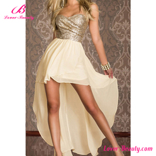 Fast delivery long back lace cocktail women party dress